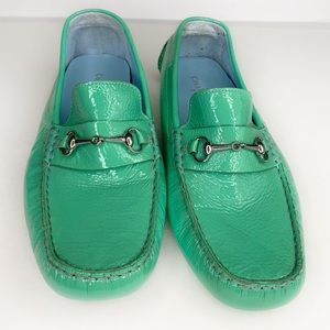 Cole Haan Drivers Loafers Turquoise Soft Patent